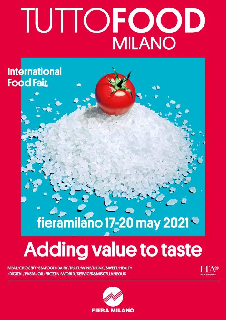 Fiera tuttofood milano 2021 poster adding value to taste