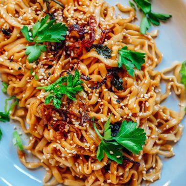 noodles con olio al cipollotto