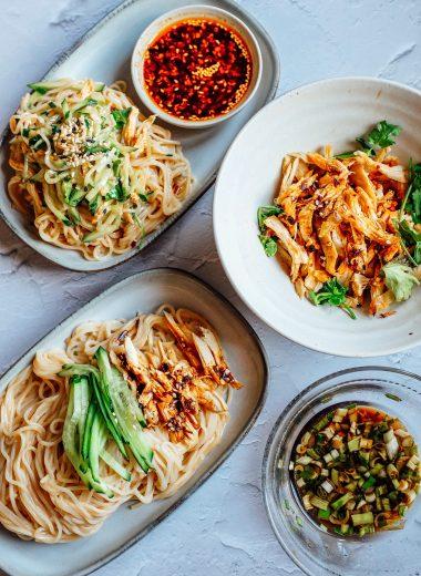 noodles con pollo arrosto avanzato