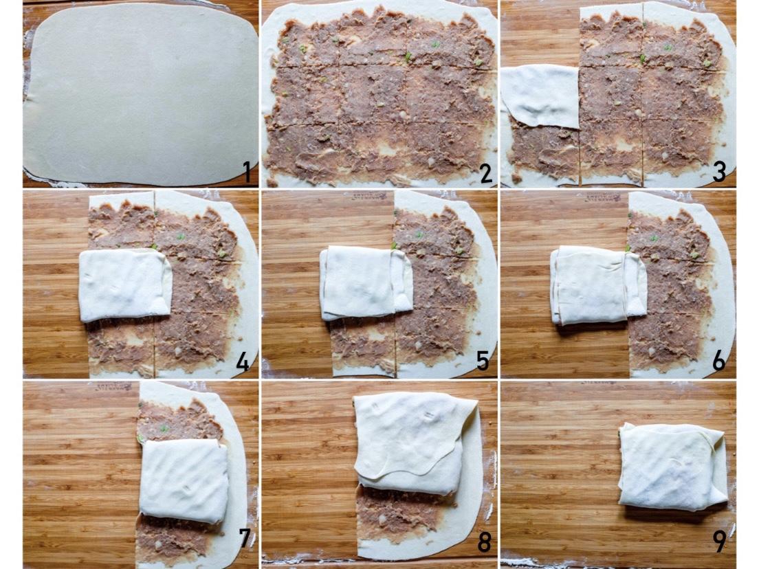 Avvolgi la pasta. Modella la pasta per farne una forma più regolare.