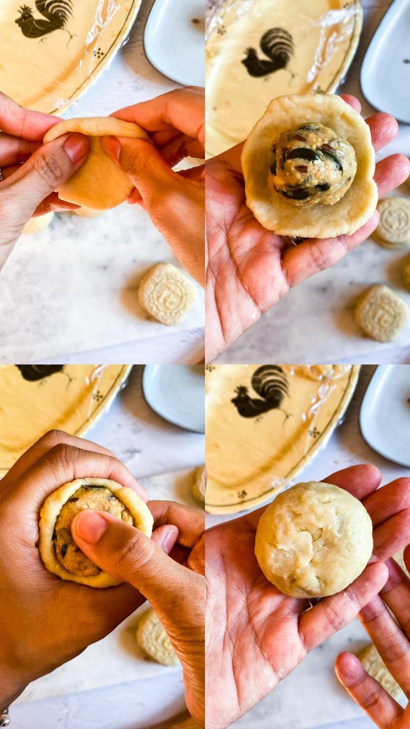 come chiudere i mooncake passo dopo passo
