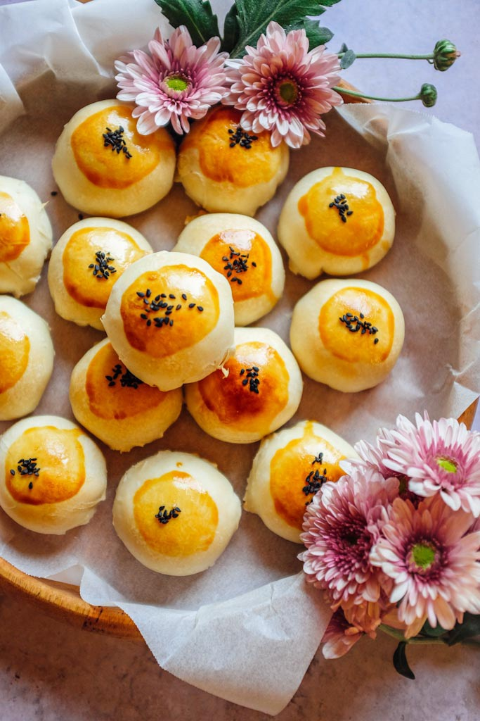 cuoci i mooncake in forno